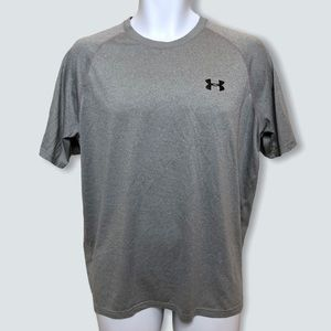 Under Armour Mens Shirt Heat Gear Loose Fit Gray L